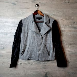 Forever 21 Biker Leather Sleeve Jacket. Perfect!
